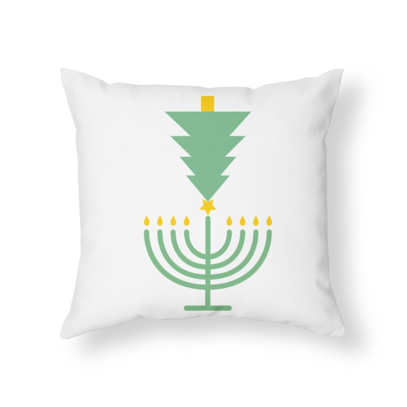 Happy Chrismukkah Home Throw Pillow by chrismukkah's Artist Shop