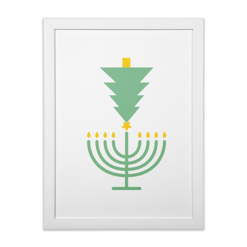 Happy Chrismukkah in Framed Fine Art Print White by chrismukkah's Artist Shop