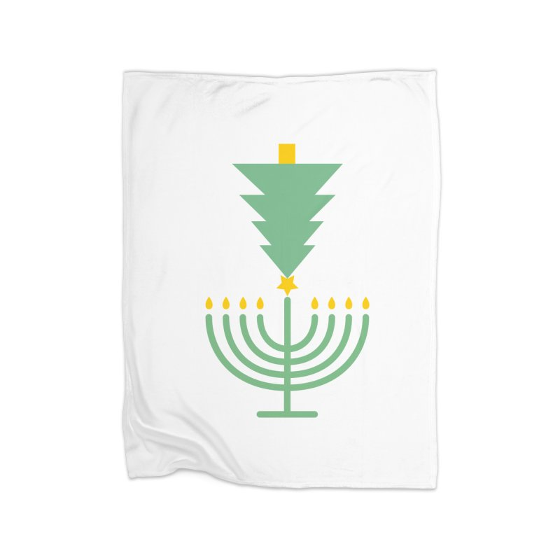 Happy Chrismukkah Home Fleece Blanket Blanket by chrismukkah's Artist Shop