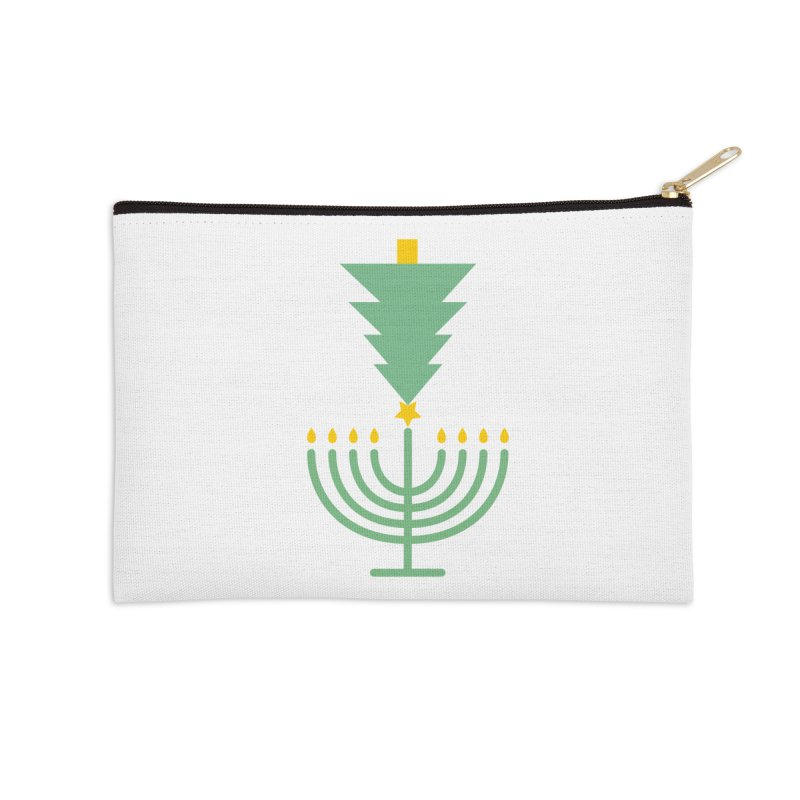 Happy Chrismukkah Accessories Zip Pouch by chrismukkah's Artist Shop
