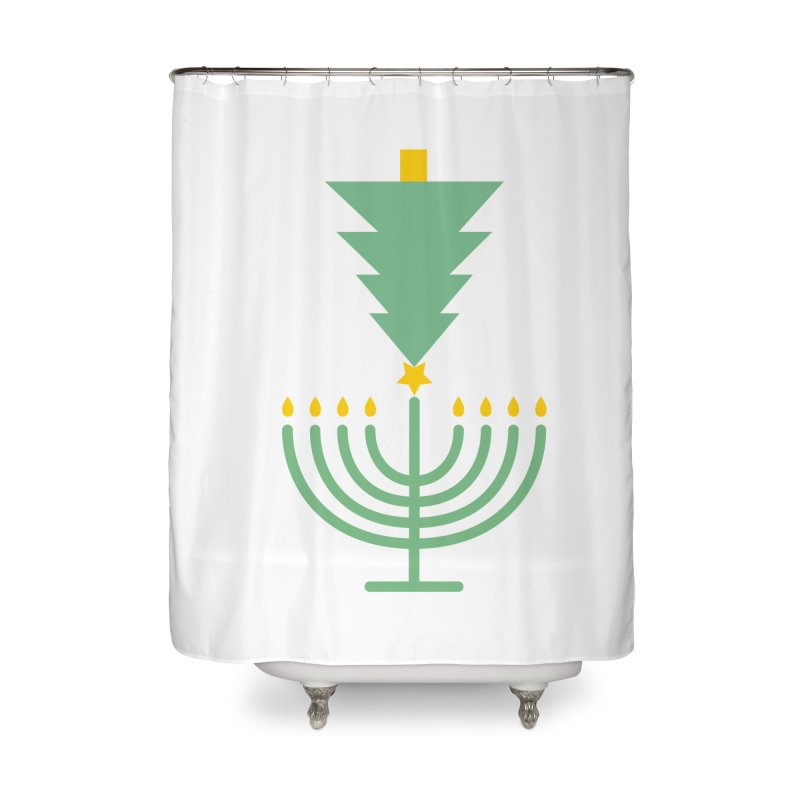 Happy Chrismukkah Home Shower Curtain by chrismukkah's Artist Shop