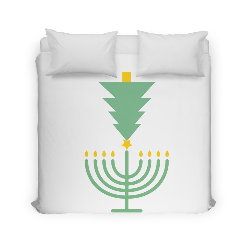 Happy Chrismukkah Home Duvet by chrismukkah's Artist Shop