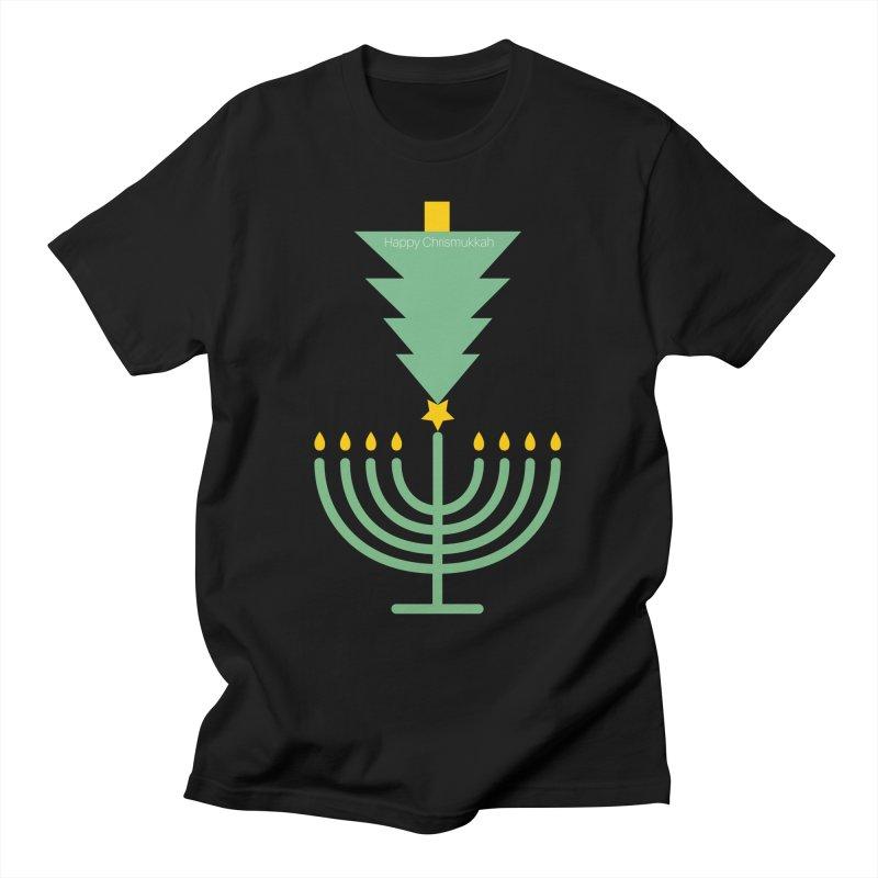 Happy Chrismukkah black Men's T-Shirt by chrismukkah's Artist Shop