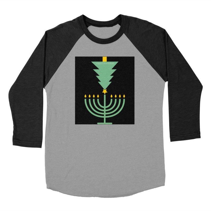Happy Chrismukkah black Men's Longsleeve T-Shirt by chrismukkah's Artist Shop