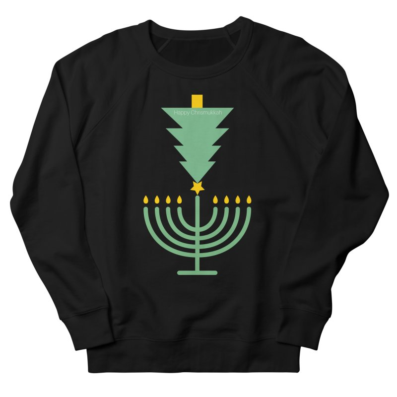 Happy Chrismukkah black Women's French Terry Sweatshirt by chrismukkah's Artist Shop