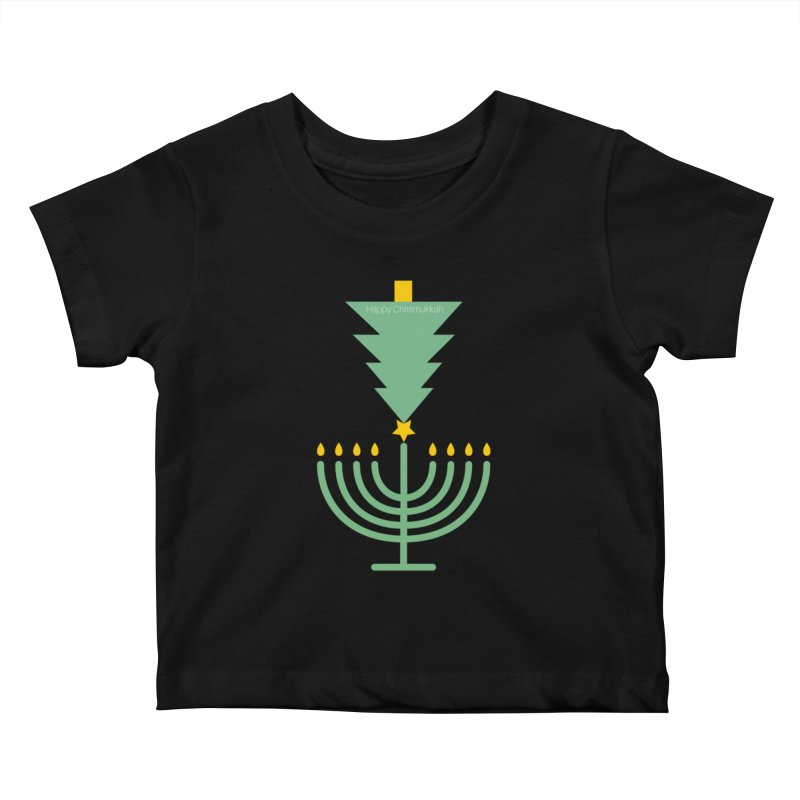 Happy Chrismukkah black Kids Baby T-Shirt by chrismukkah's Artist Shop