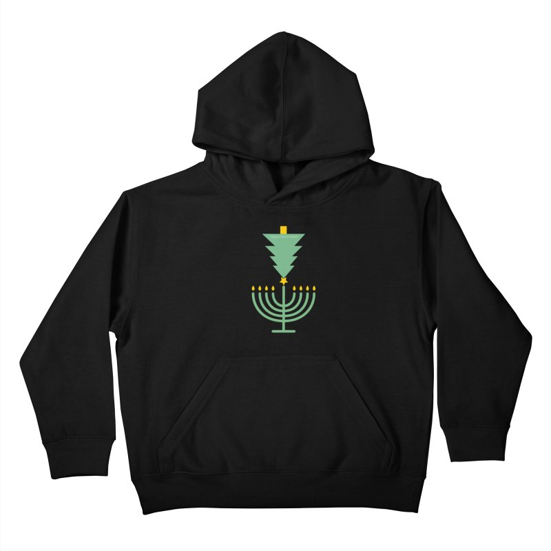 Happy Chrismukkah black Kids Pullover Hoody by chrismukkah's Artist Shop