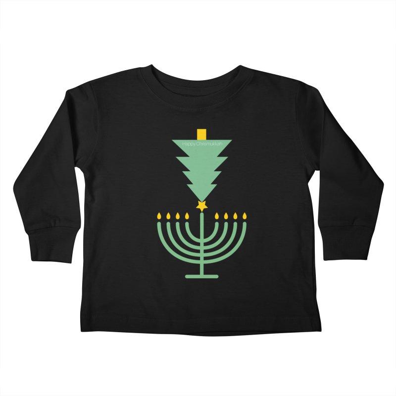Happy Chrismukkah black Kids Toddler Longsleeve T-Shirt by chrismukkah's Artist Shop