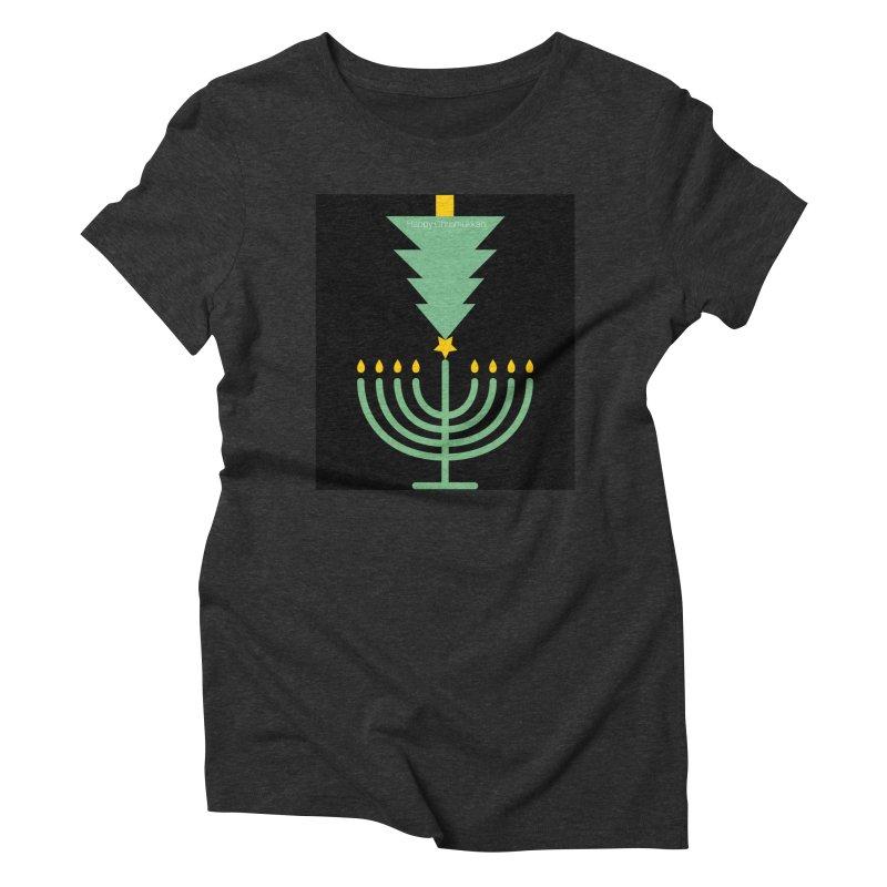 Happy Chrismukkah black Women's Triblend T-Shirt by chrismukkah's Artist Shop