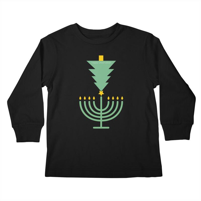 Happy Chrismukkah black Kids Longsleeve T-Shirt by chrismukkah's Artist Shop
