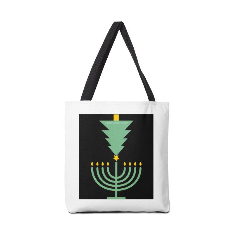 Happy Chrismukkah black Accessories Bag by chrismukkah's Artist Shop