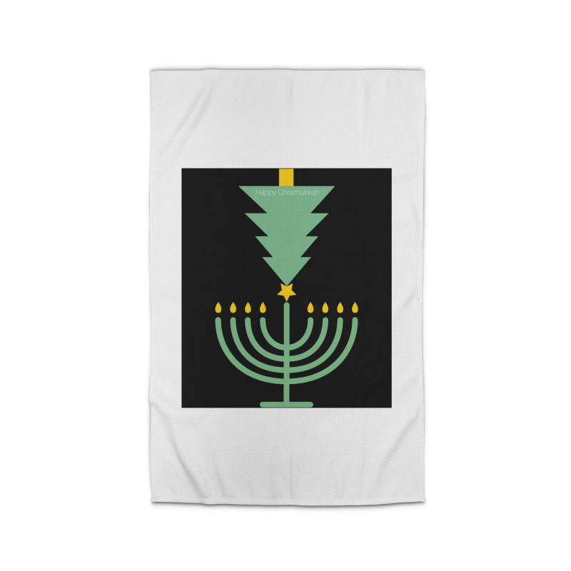 Happy Chrismukkah black Home Rug by chrismukkah's Artist Shop