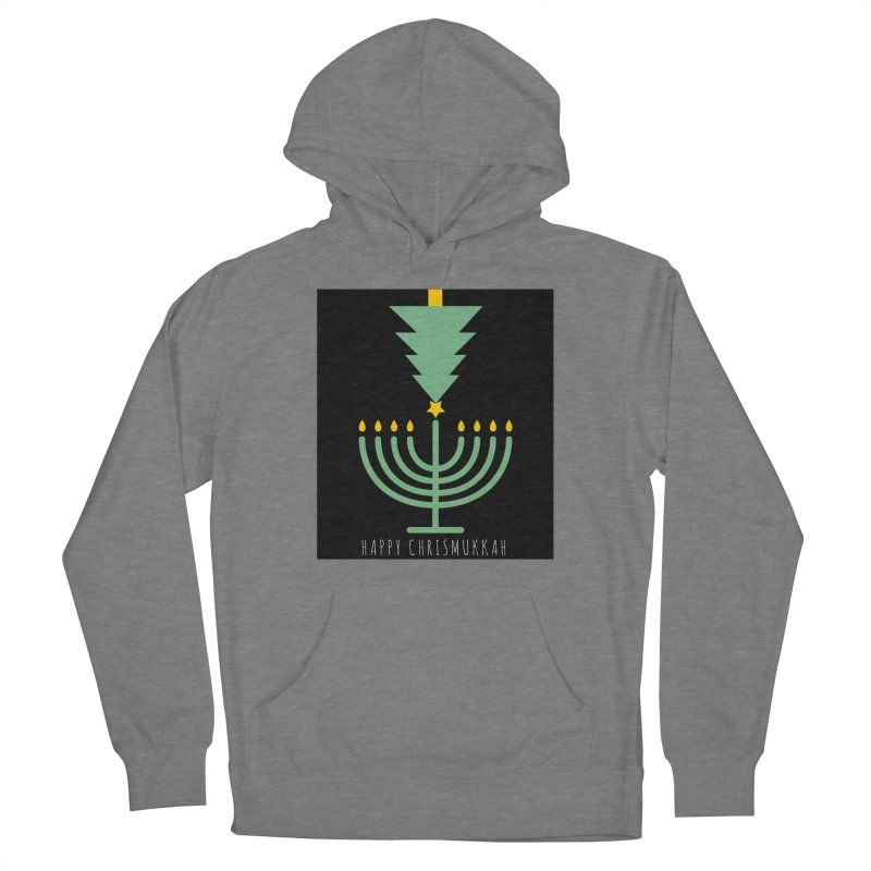 Happy Chrismukkah (with text) Men's Pullover Hoody by chrismukkah's Artist Shop