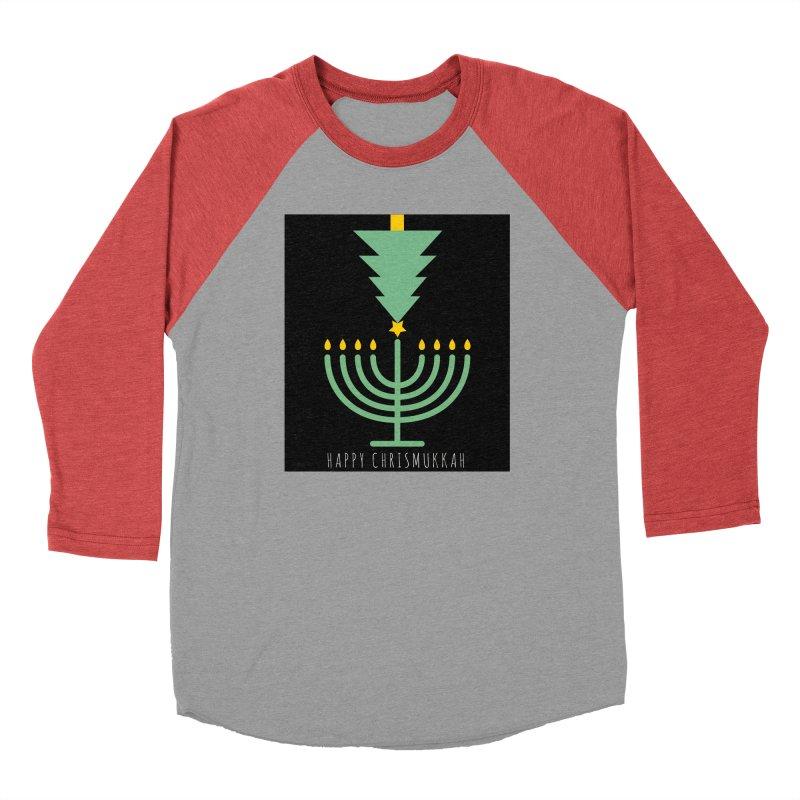 Happy Chrismukkah (with text) Men's Longsleeve T-Shirt by chrismukkah's Artist Shop