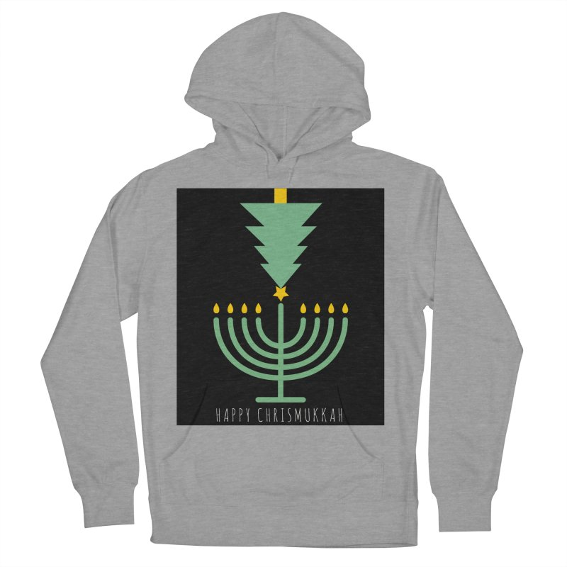 Happy Chrismukkah (with text) Women's French Terry Pullover Hoody by chrismukkah's Artist Shop