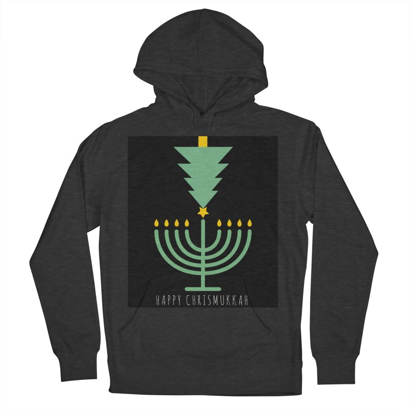 Happy Chrismukkah (with text) Men's French Terry Pullover Hoody by chrismukkah's Artist Shop