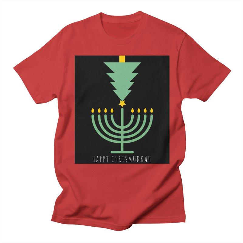 Happy Chrismukkah (with text) Men's Regular T-Shirt by chrismukkah's Artist Shop