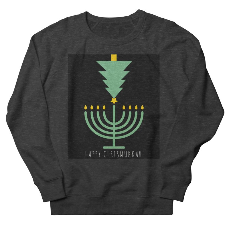 Happy Chrismukkah (with text) Men's French Terry Sweatshirt by chrismukkah's Artist Shop
