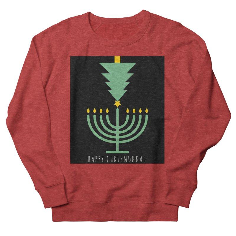 Happy Chrismukkah (with text) Men's Sweatshirt by chrismukkah's Artist Shop