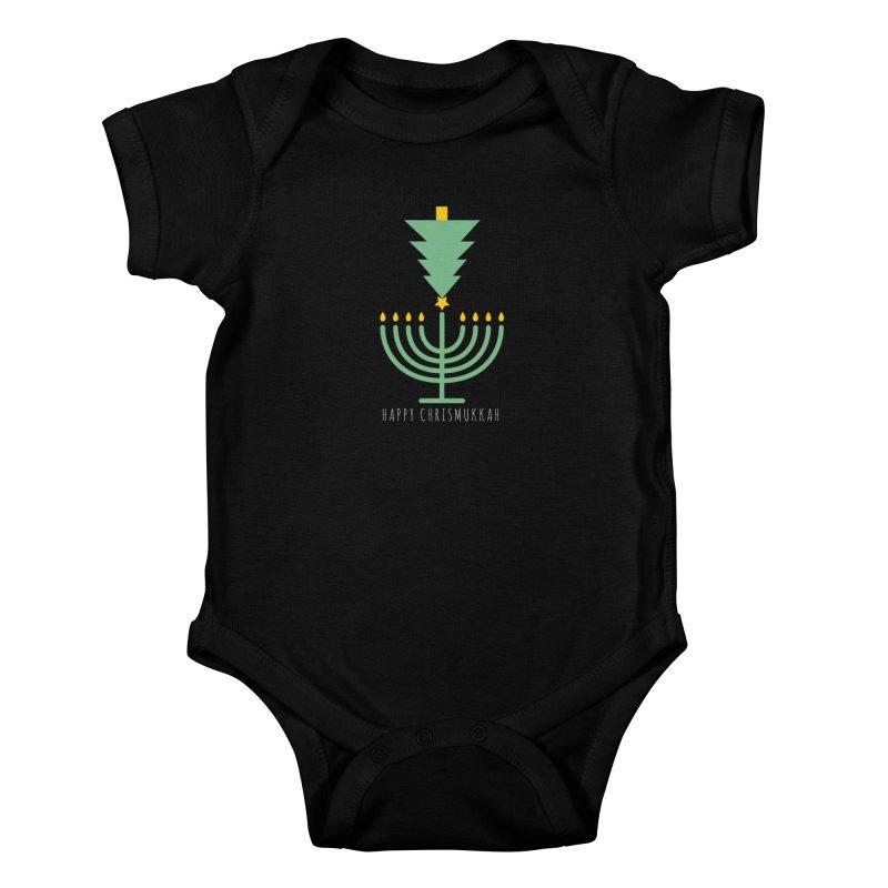 Happy Chrismukkah (with text) Kids Baby Bodysuit by chrismukkah's Artist Shop