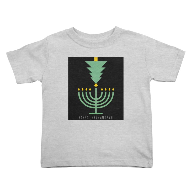 Happy Chrismukkah (with text) Kids Toddler T-Shirt by chrismukkah's Artist Shop