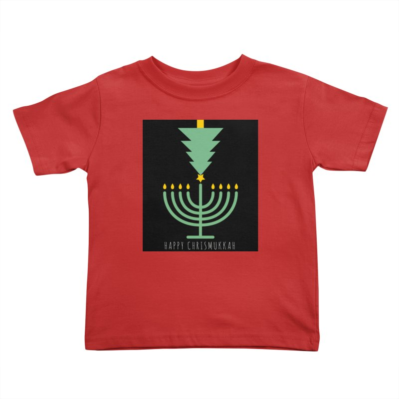 Happy Chrismukkah (with text) Kids Toddler T-Shirt by chrismukkah's Artist Shop