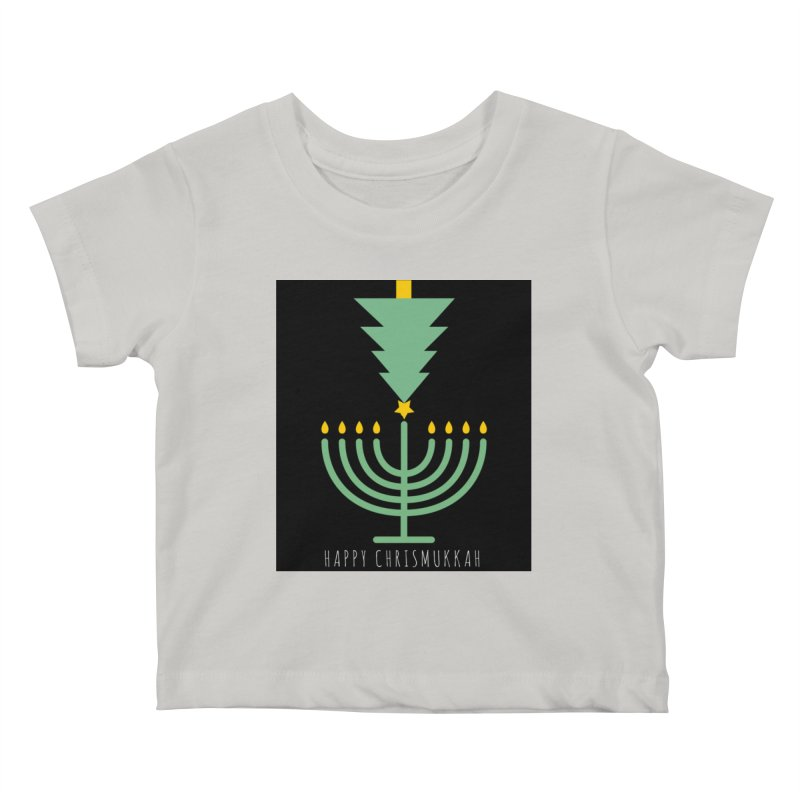 Happy Chrismukkah (with text) Kids Baby T-Shirt by chrismukkah's Artist Shop