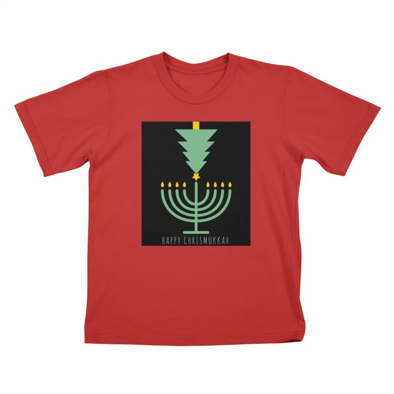 Happy Chrismukkah (with text) Kids T-Shirt by chrismukkah's Artist Shop