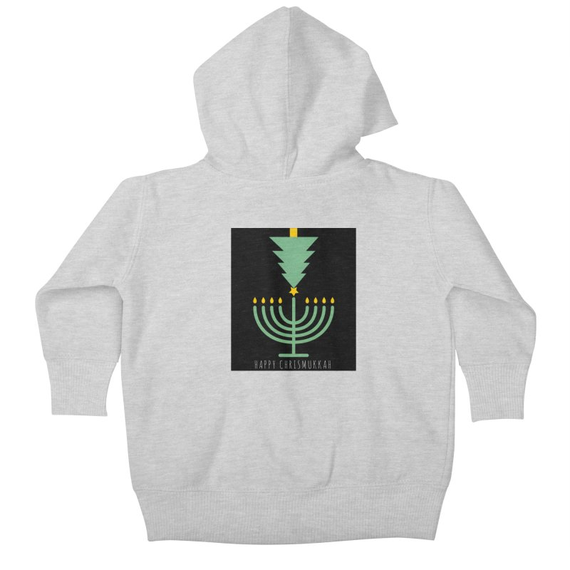 Happy Chrismukkah (with text) Kids Baby Zip-Up Hoody by chrismukkah's Artist Shop