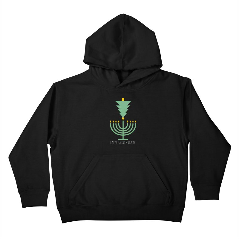 Happy Chrismukkah (with text) Kids Pullover Hoody by chrismukkah's Artist Shop