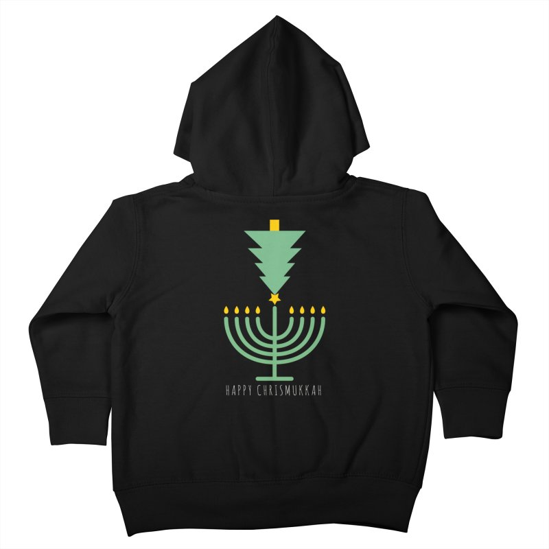 Happy Chrismukkah (with text) Kids Toddler Zip-Up Hoody by chrismukkah's Artist Shop