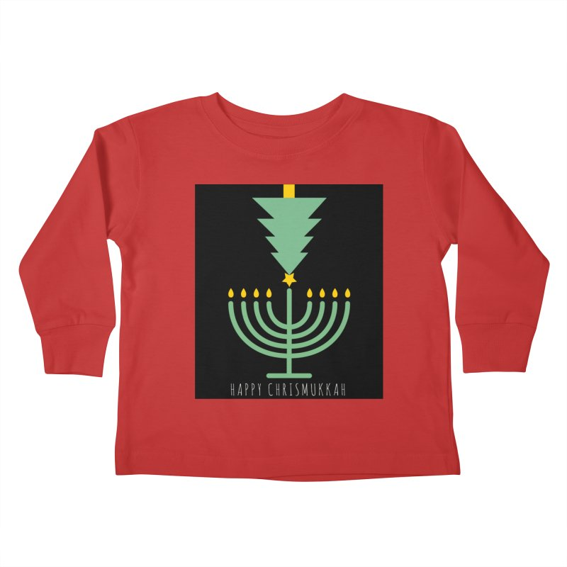 Happy Chrismukkah (with text) Kids Toddler Longsleeve T-Shirt by chrismukkah's Artist Shop