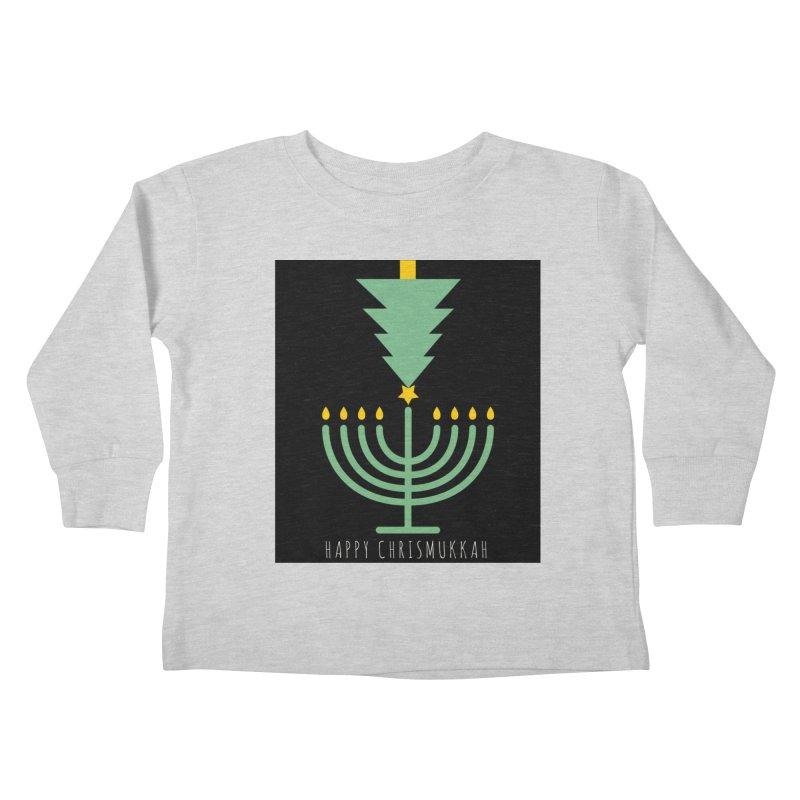 Happy Chrismukkah (with text) Kids Toddler Longsleeve T-Shirt by chrismukkah's Artist Shop