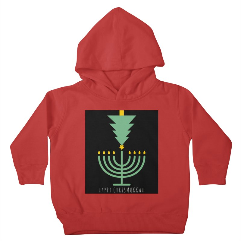 Happy Chrismukkah (with text) Kids Toddler Pullover Hoody by chrismukkah's Artist Shop