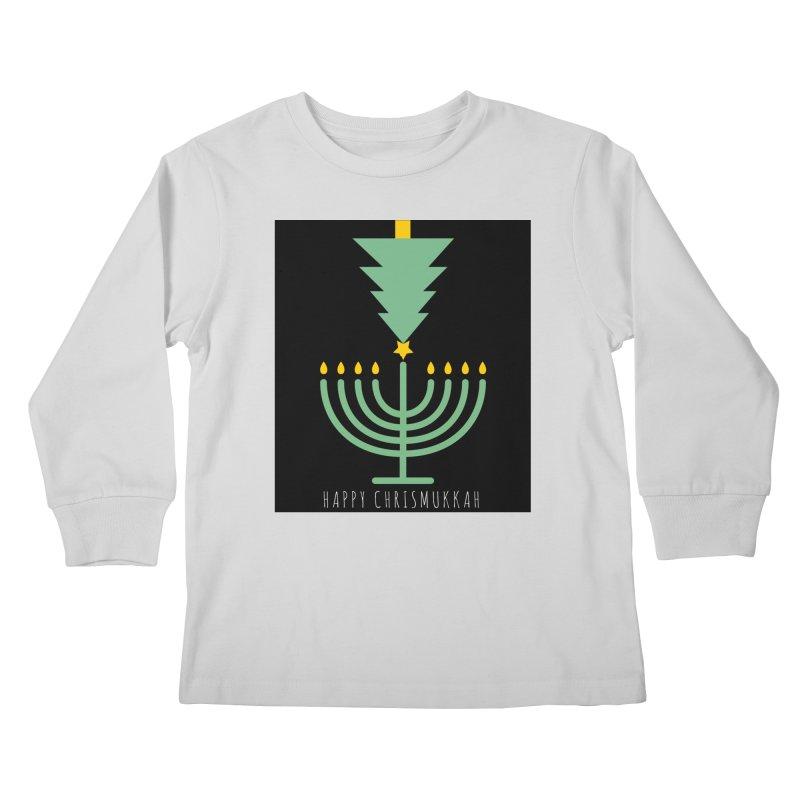 Happy Chrismukkah (with text) Kids Longsleeve T-Shirt by chrismukkah's Artist Shop