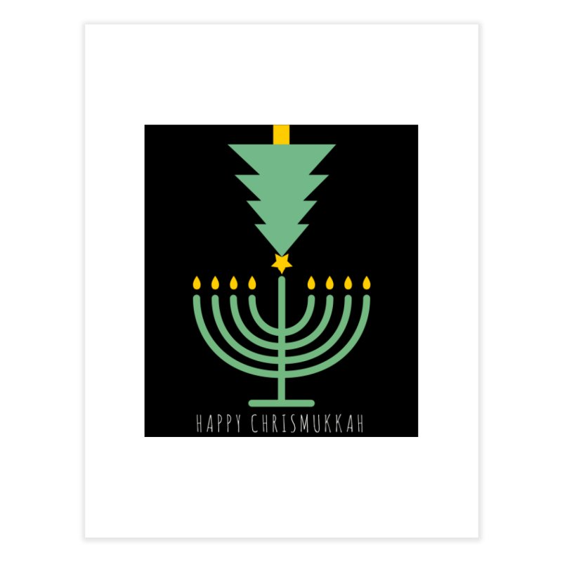 Happy Chrismukkah (with text) Home Fine Art Print by chrismukkah's Artist Shop
