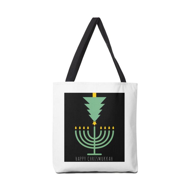 Happy Chrismukkah (with text) Accessories Bag by chrismukkah's Artist Shop