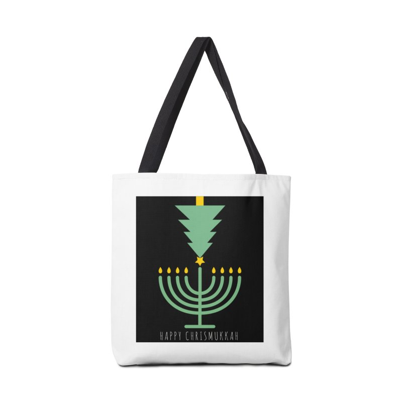 Happy Chrismukkah (with text) Accessories Tote Bag Bag by chrismukkah's Artist Shop