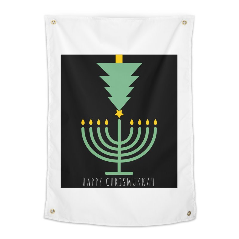 Happy Chrismukkah (with text) Home Tapestry by chrismukkah's Artist Shop