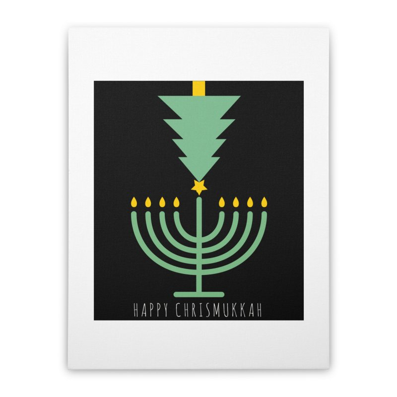 Happy Chrismukkah (with text) Home Stretched Canvas by chrismukkah's Artist Shop