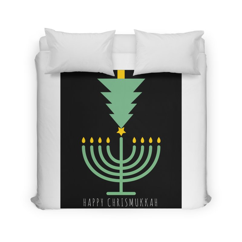 Happy Chrismukkah (with text) Home Duvet by chrismukkah's Artist Shop