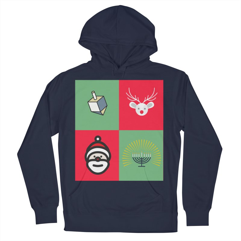 chrismukkah Men's French Terry Pullover Hoody by chrismukkah's Artist Shop