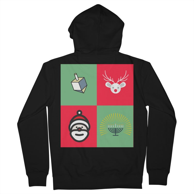 chrismukkah Men's French Terry Zip-Up Hoody by chrismukkah's Artist Shop