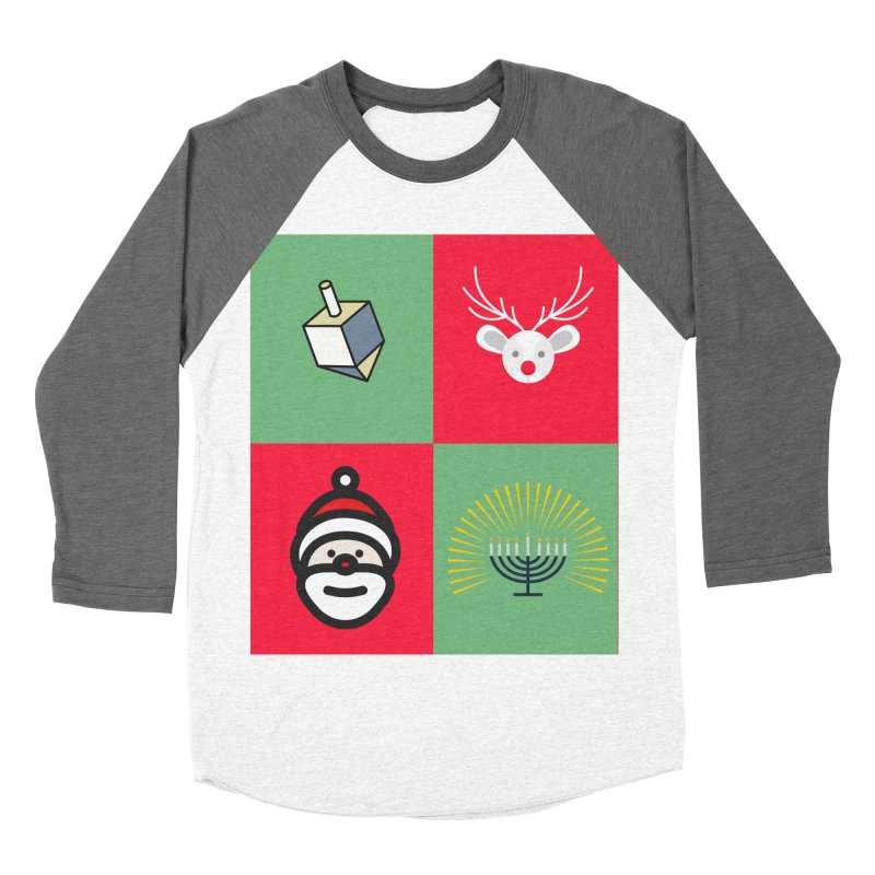 chrismukkah Women's Baseball Triblend Longsleeve T-Shirt by chrismukkah's Artist Shop