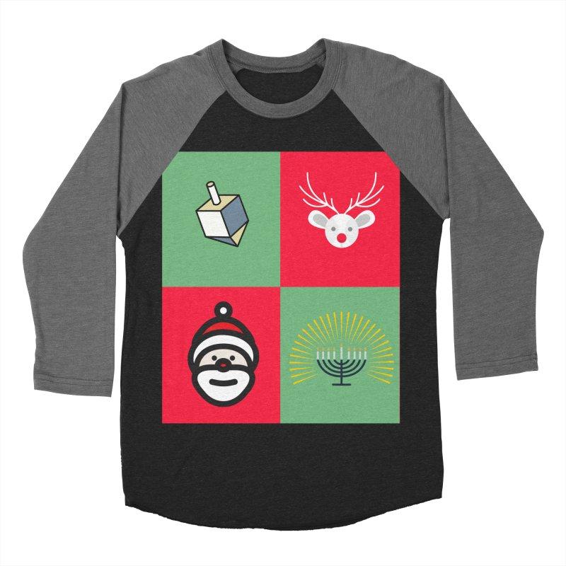 chrismukkah Men's Baseball Triblend T-Shirt by chrismukkah's Artist Shop