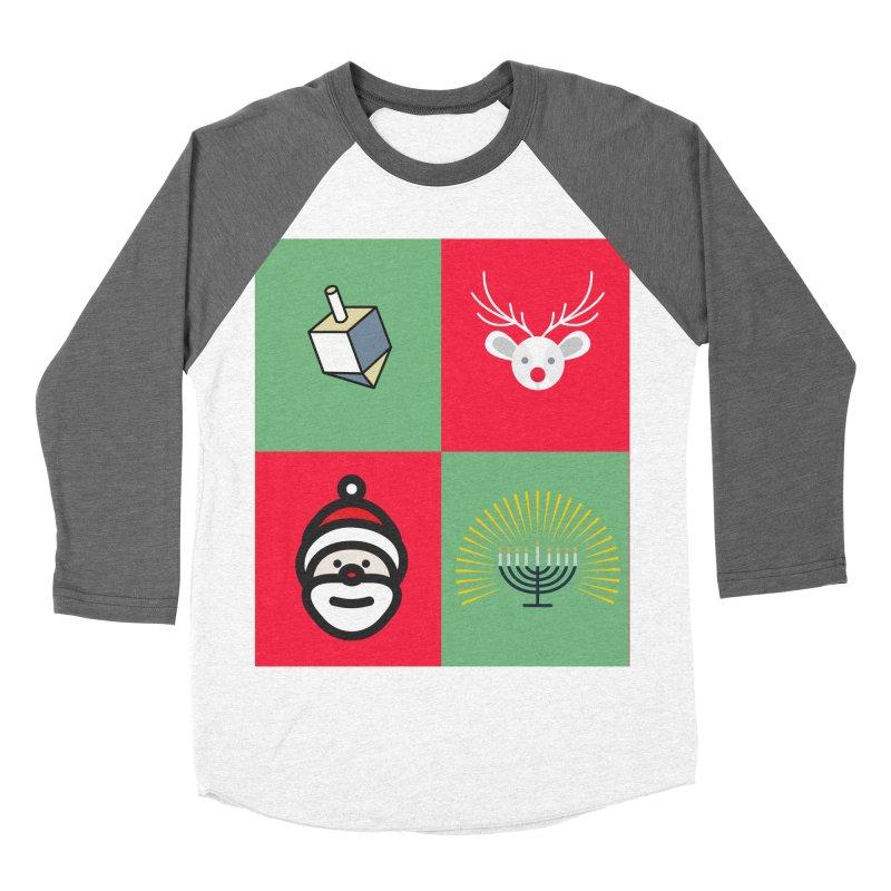 chrismukkah Men's Baseball Triblend Longsleeve T-Shirt by chrismukkah's Artist Shop