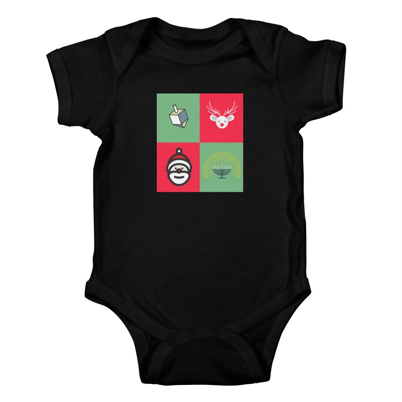 chrismukkah Kids Baby Bodysuit by chrismukkah's Artist Shop