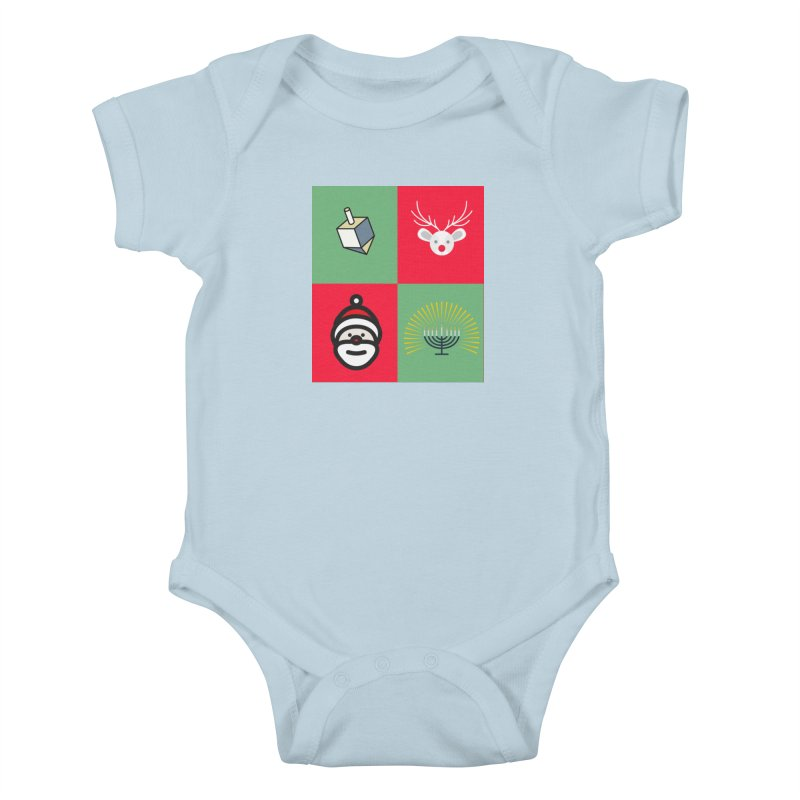 chrismukkah Kids Baby Bodysuit by chrismukkah's Artist Shop