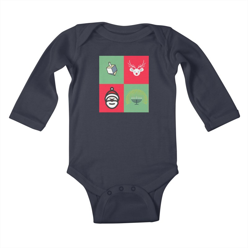 chrismukkah Kids Baby Longsleeve Bodysuit by chrismukkah's Artist Shop