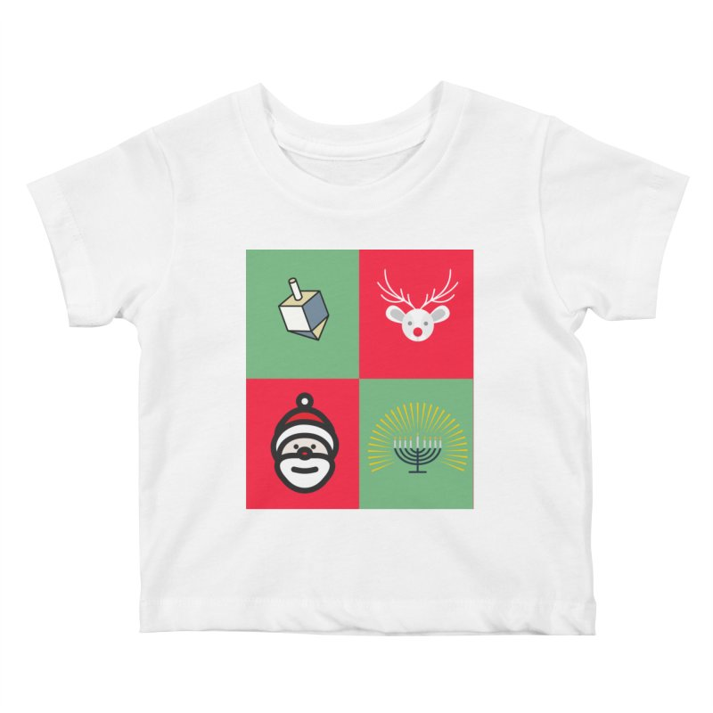 chrismukkah Kids Baby T-Shirt by chrismukkah's Artist Shop